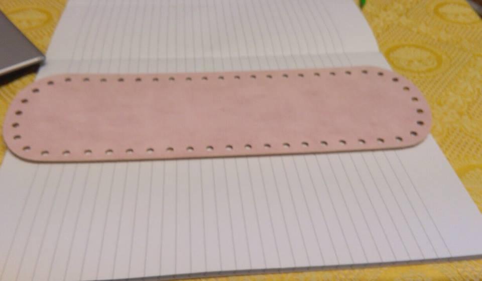fondo ovale 10x30 rosa baby