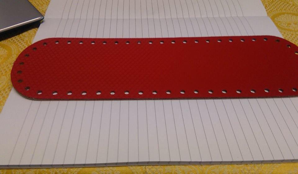 fondo ovale 10x30 rosso ferrari