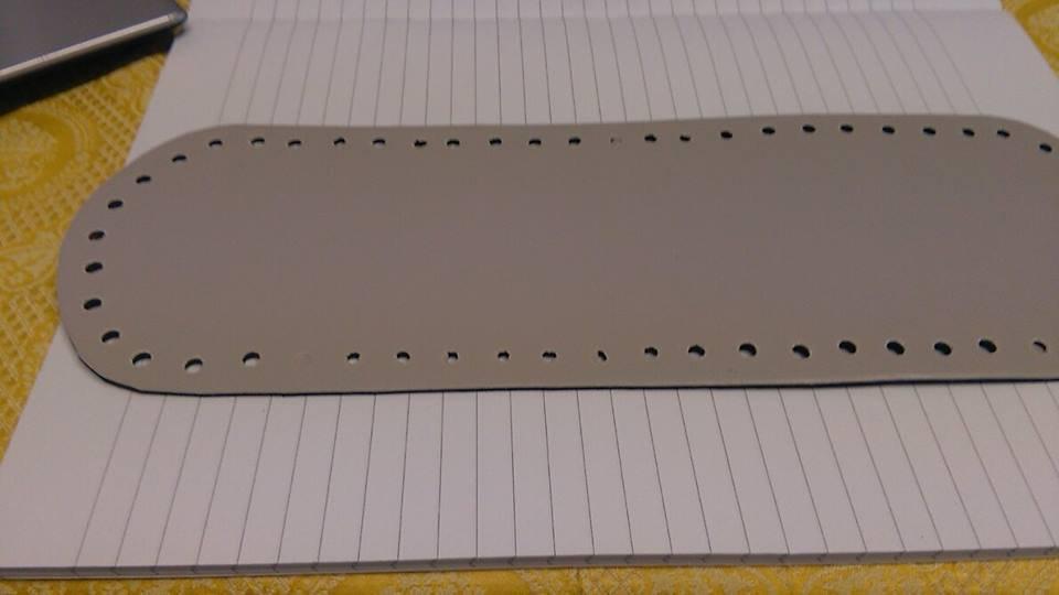 fondo ovale 10x30 grigio