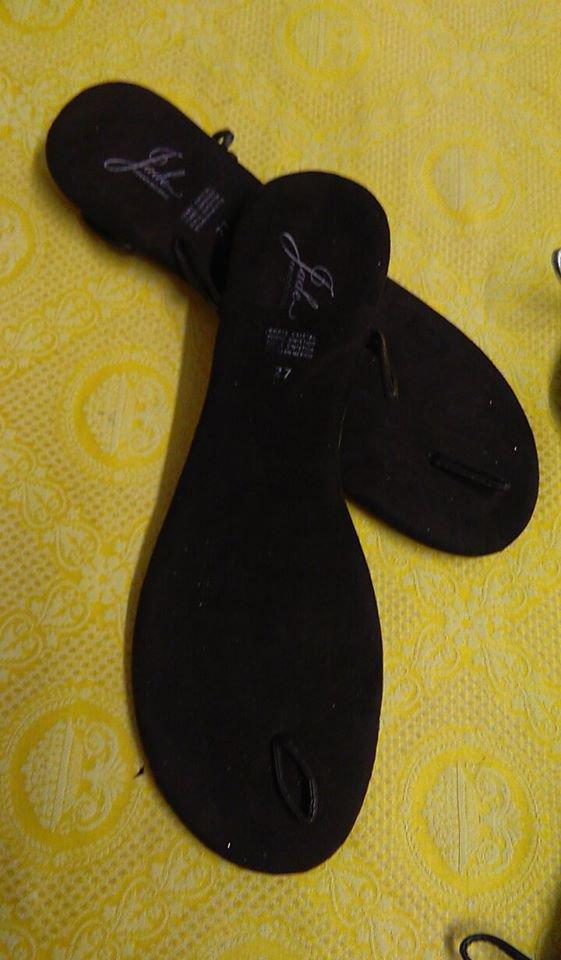 suole sandali uncinetto cm 27marrone scuro
