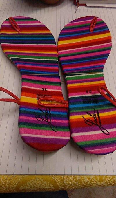 suole sandali uncinetto cm 25