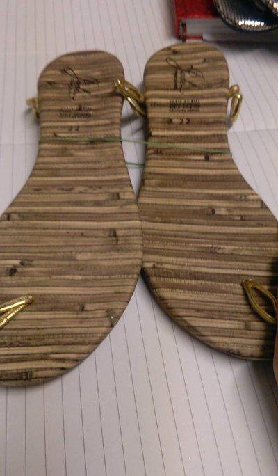 suole sandali uncinetto cm 22