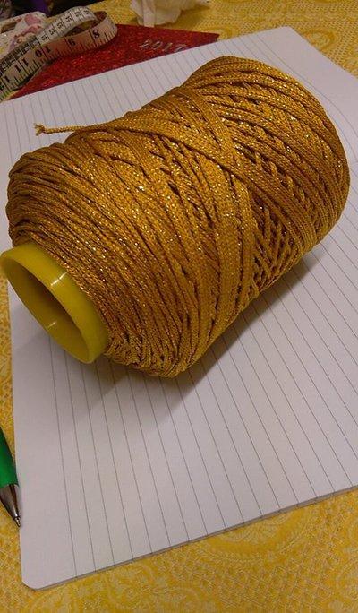cordino thai effetto seta  oro scuro lurex