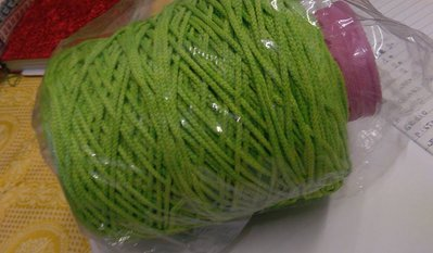 cordino thai effetto seta verde mela
