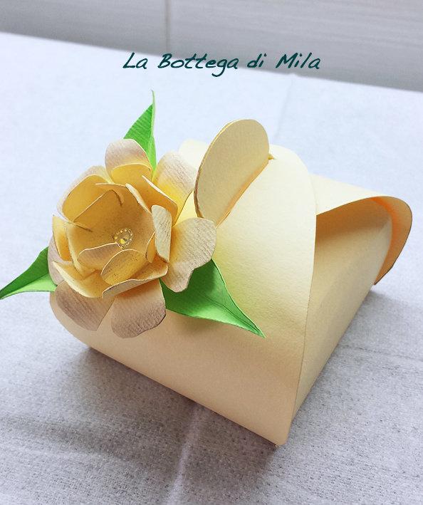 Scatolina Porta Confetti Avorio, Matrimonio, Battesimo, Cresima, Comunione, Nascita