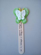 Farfalla segnalibro all'uncinetto