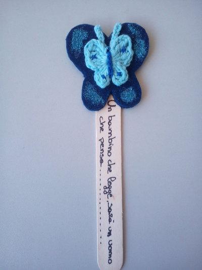 Segnalibro farfalla all'uncinetto