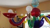 Tazza , ricambio per lampadari di Venini , Mazzega, Maria Teresa, Toso, con pezzi rotti,  in vetro soffiato di Murano