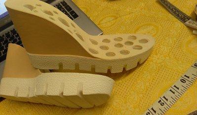 suola  bicolore per sandali e zeppe n 37 cm 24  tacco 10