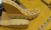 suola  bicolore per sandali e zeppe n 37 cm 24,5  tacco 10