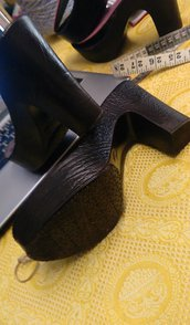 suola  tacco cubano scuro n 37 cm 24 tacco cm 11