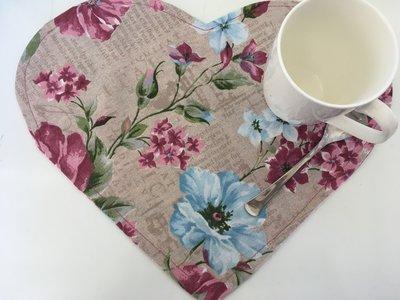 Coppia tovaglietta americana floreale