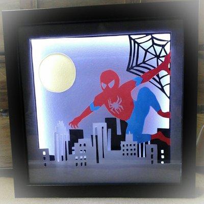 Lampada led spiderman