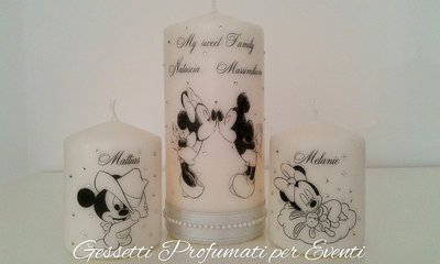Tris candele Sweet Family