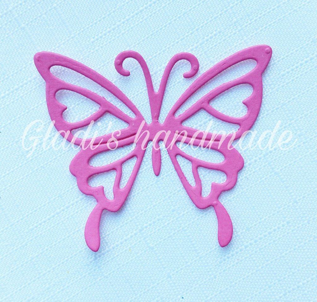80 farfalle intagliate in cartoncino