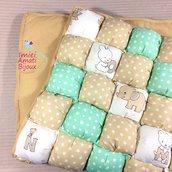 Trapunta biscotto patchwork biscuit culla spedizione gratuita!