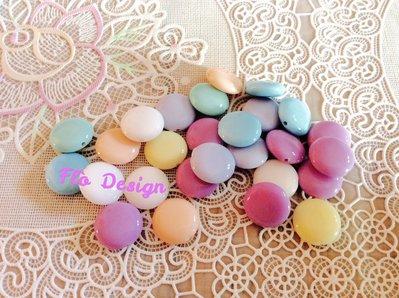 Dischetti colorati con foro piccolo tipo smarties (20pz)