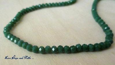 LOTTO 148 cipollotti-rondelle in vetro sfaccettate Verde Foglia effetto matt (4 mm)  (cod.new)