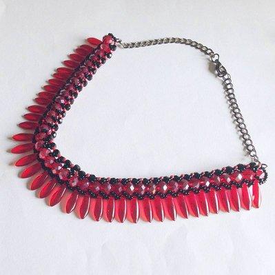 Collier Glam rosso e nero