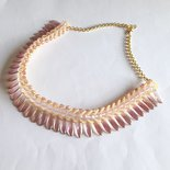 Collier Glam rosa chiaro e giallo pesca