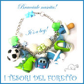 "Bracciale Nascita "" It's a boy! "" Battesimo baby shower idea regalo Kawaii"