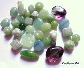 """LOTTO 50 gr perle in vetro di Bohemia """"Giada Naturale"""" (cod.PRECIOSA)"""