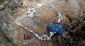 Bracciale costellazione leone stelle fluorescente zodiaco oroscopo pietra del sole