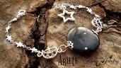 Bracciale costellazione ariete stelle fluorescente zodiaco oroscopo pietra del sole