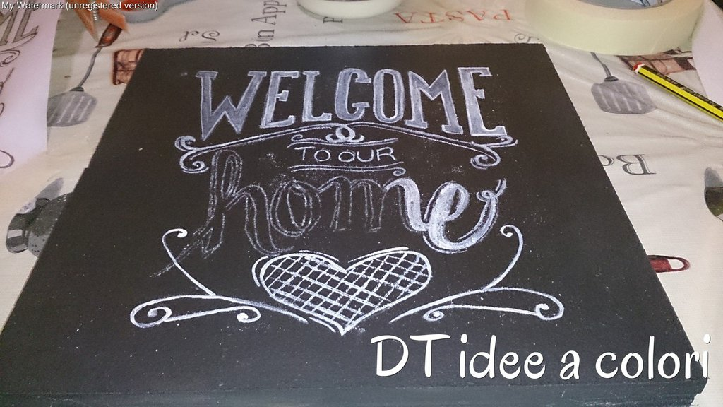 targhe e fuori porta chalk board