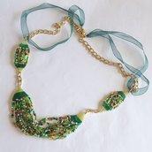 Collana Marea verde e dorato