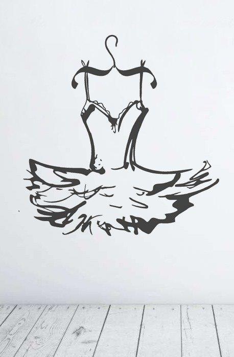 Adesivo murale tutù ballerina classica