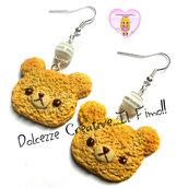 Orecchini cookie - Biscotto con orsetti - Orso - kawaii idea regalo handmade fimo
