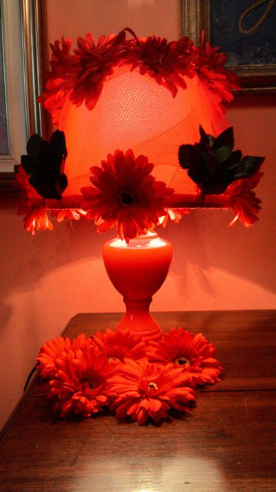 Lampada in fiore