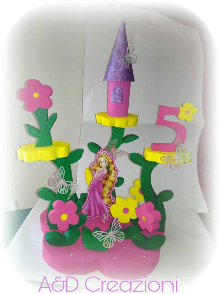 Favorito Rapunzel centrotavola per compleanno - Feste - Decorazioni - di  TM04