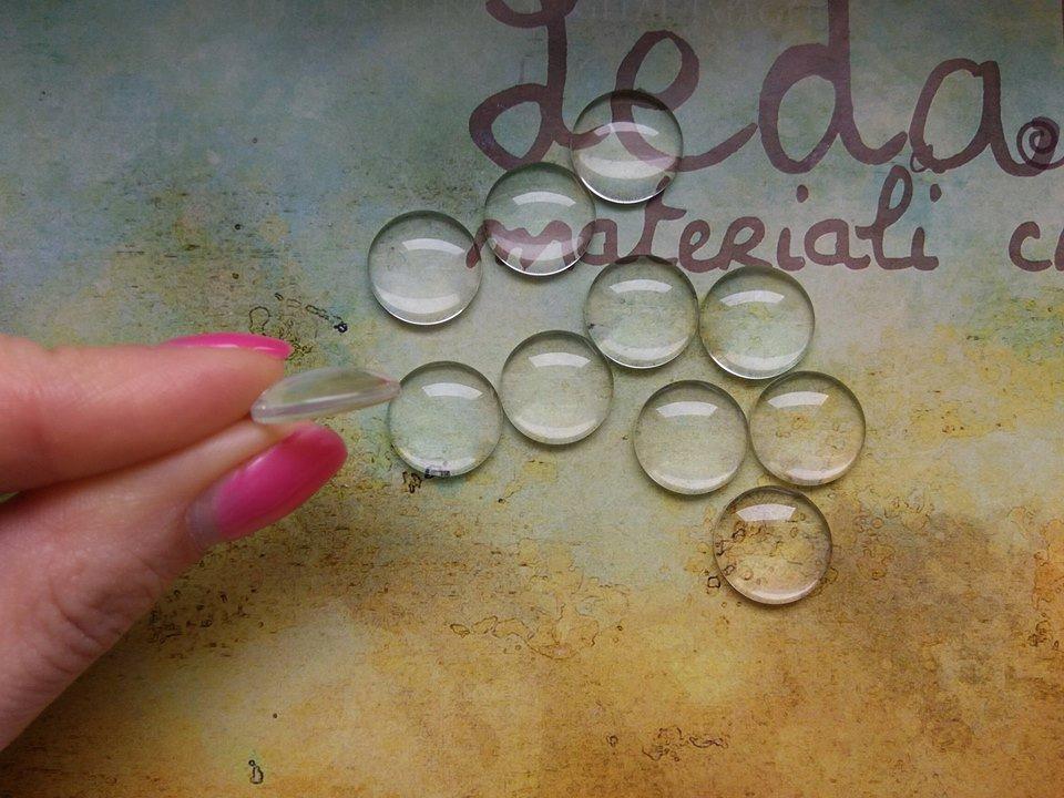 Cabochon in vetro per cammeo 16mm
