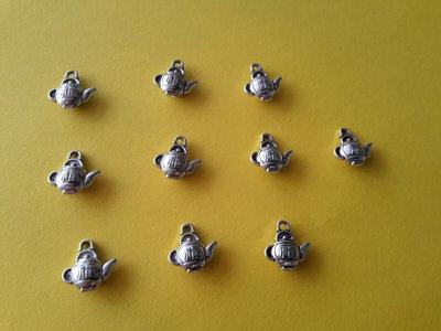 10 charms ciondoli 'Teiere giaponesse' in argento tibetano,