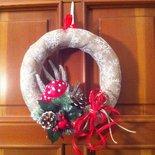 Ghirlanda natalizia nature lavorazione artigianale pezzo unico 2685