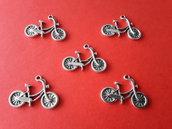 5 charms ciondoli 'Biciclette' argento tibetano