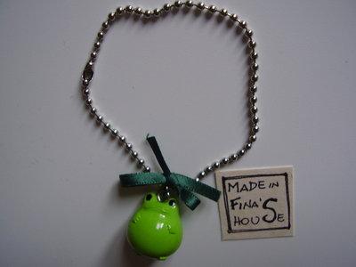 bracciale rana verde