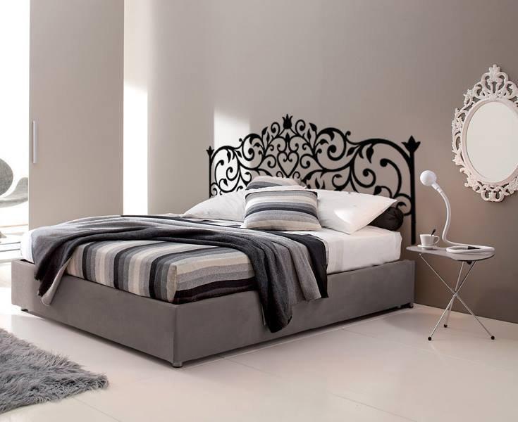 Testata letto adesiva disegno ferro battuto