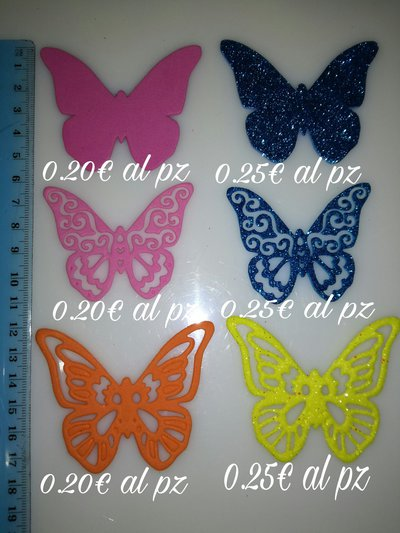 Set fustellati farfalle