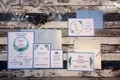 """Set di Nozze """"Inverno"""" : partecipazione + coordinati"""