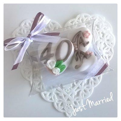 confettata anniversario di matrimonio, confetti decorati