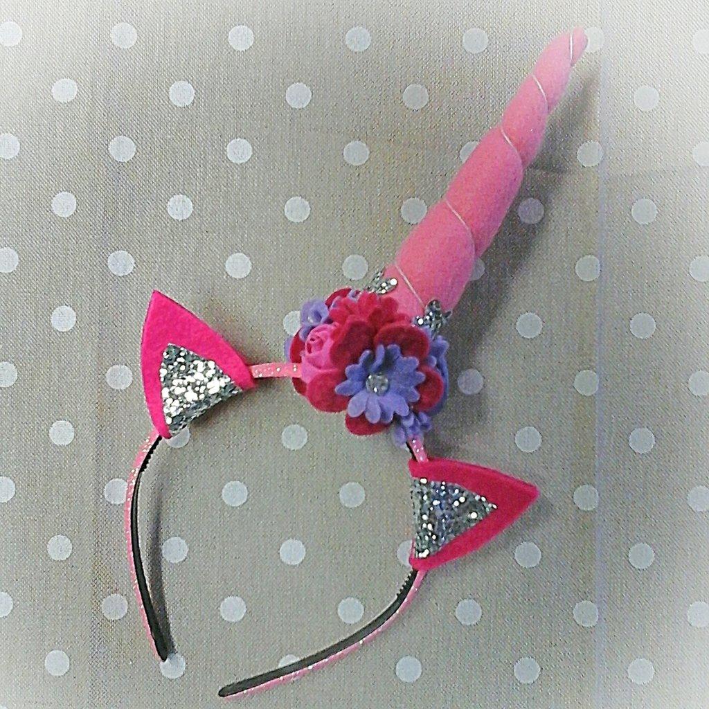 Cerchietto unicorno rosa
