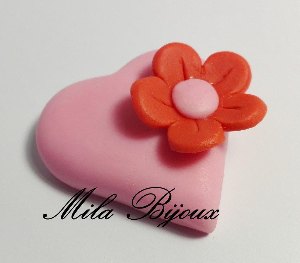 Cuore con fiorellino