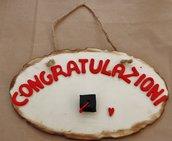 "Targa ""congratulazioni"" laurea"