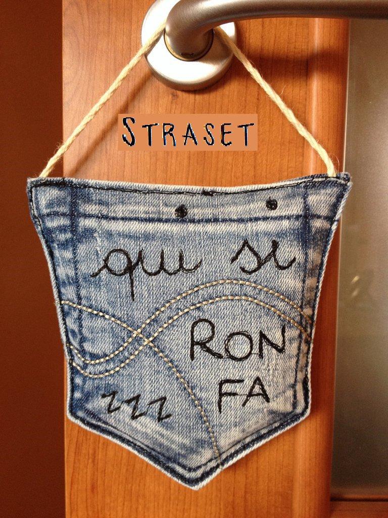 Cuscini targhe fuoriporta personalizzati tasche di jeans