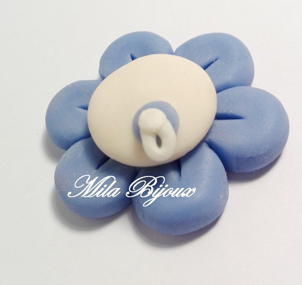 fiorellino bianco e blu personalizzabile