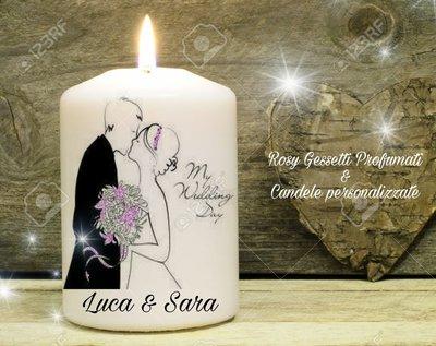 Candela personalizzata wedding