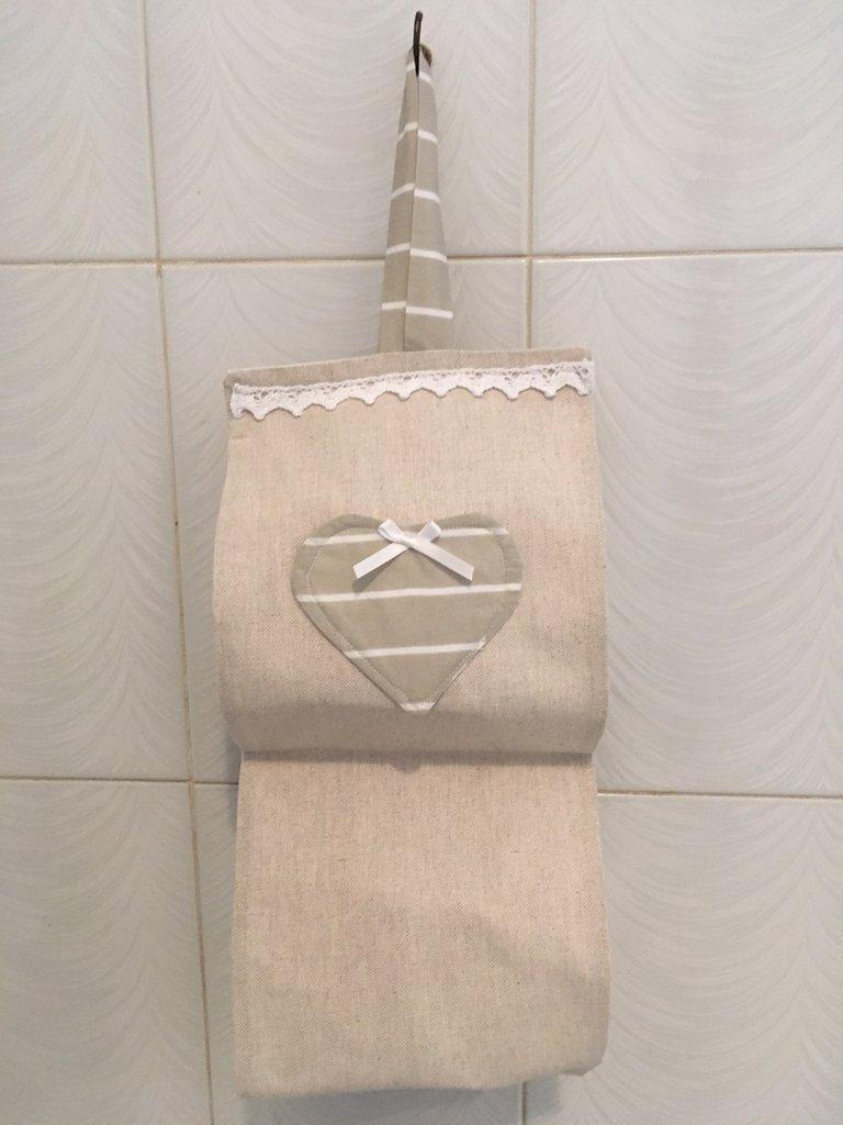 Porta rotoli carta igienica Cuore